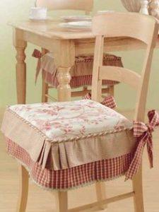 Coppia cuscini sedie cucina coprisedia imbottiti. Cuscini Per Sedie Salotto