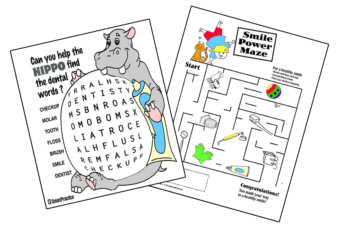 Pediatric Dentistry Activity Sheets And Coloring Pages