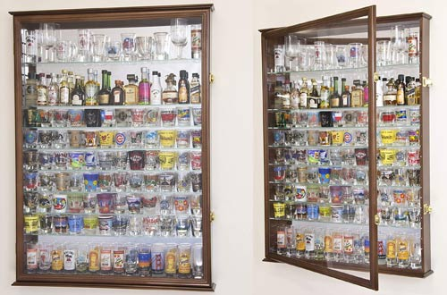 best shot glass display cases with