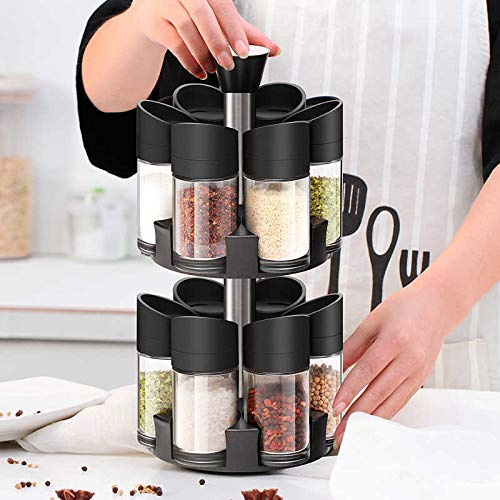 spice rack set double layer 12 pieces kitchen organizing for spices dls12