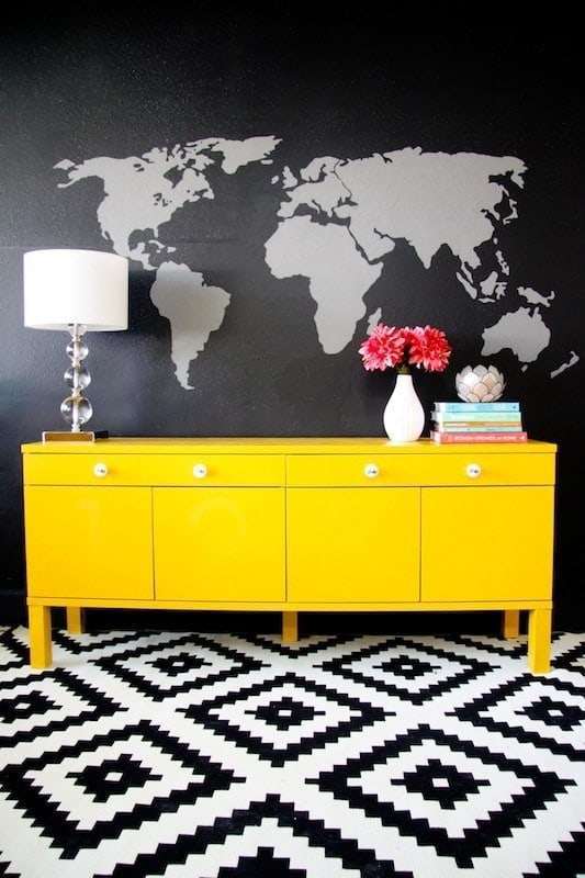 create a map wall mural