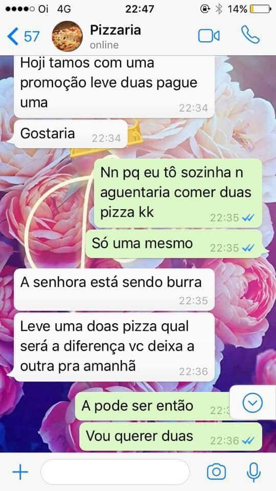 A SENHORA ESTA SENDO BURRA