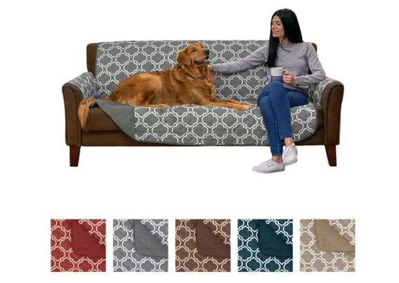 Home Fashion Designs Deluxe Reversible Quilted Slipcover