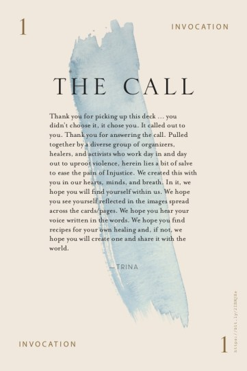 """The cover of the medicine cards deck with the title """"The Call"""""""
