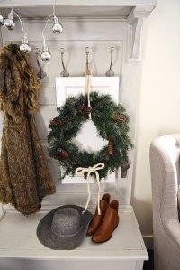 DIY Cabinet Door Christmas Wreaths - Liz Marie Blog