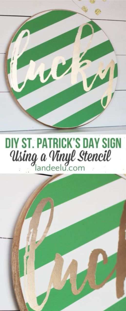 St Patricks Day Decor Ideas - DIY St. Patrick's Day Sign - DIY St. Patrick's Day Party Decorations and Home Decor Crafts - Projects for Walls, Hanging Banners, Wreaths, Tabletop Centerpieces and Party Favors - Green Shamrocks, Leprechauns and Cute and Easy Do It Yourself Decor For Parties - Cheap Dollar Store Ideas for Those On A Budget http://diyjoy.com/diy-st-patricks-day-decor