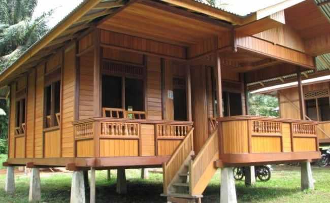 Contoh Desain Rumah Panggung Kayu Cute766