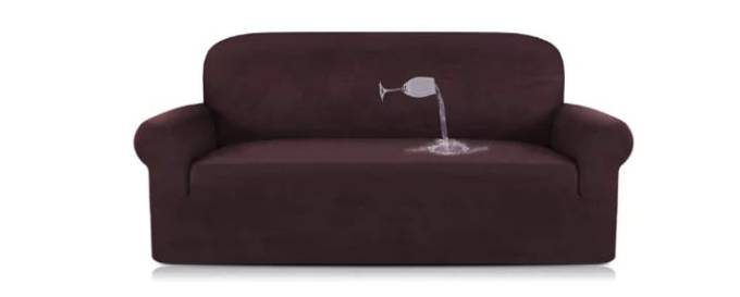 Turquoize brown sofa slipcover