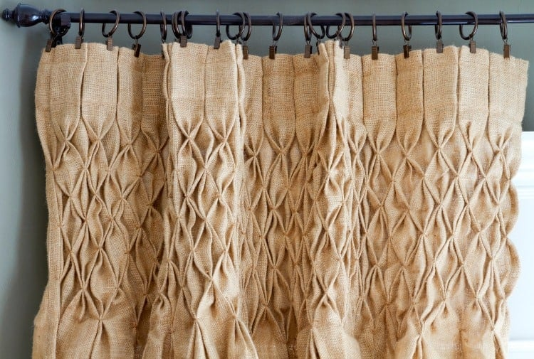 smocked burlap curtains giveaway
