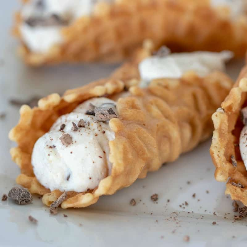 These Weight Watchers Chocolate Chip Cookie Cannolis are simple to make, quick and the variations you could make these is endless. There is only 4 Weight Watchers Freestyle Smart Points in each cookie!