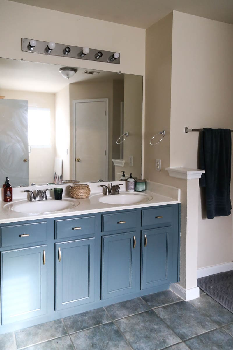 Painted Bathroom Cabinets Painting A Bathroom Vanity Without Sanding Love Renovations