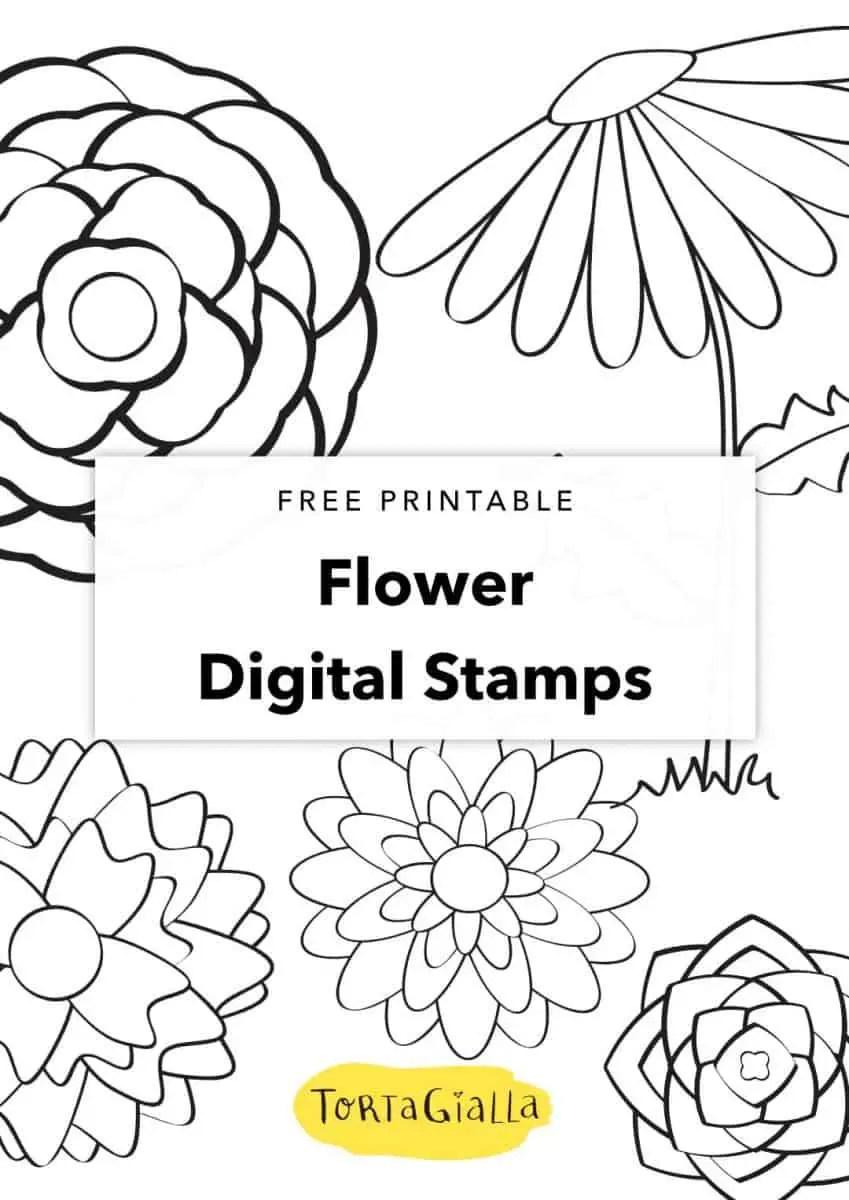 free printable flower digital