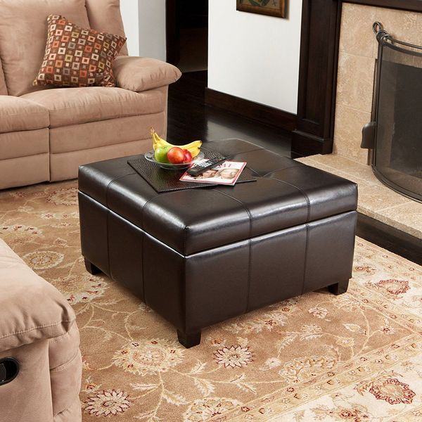6 best leather ottomans of 2020 easy