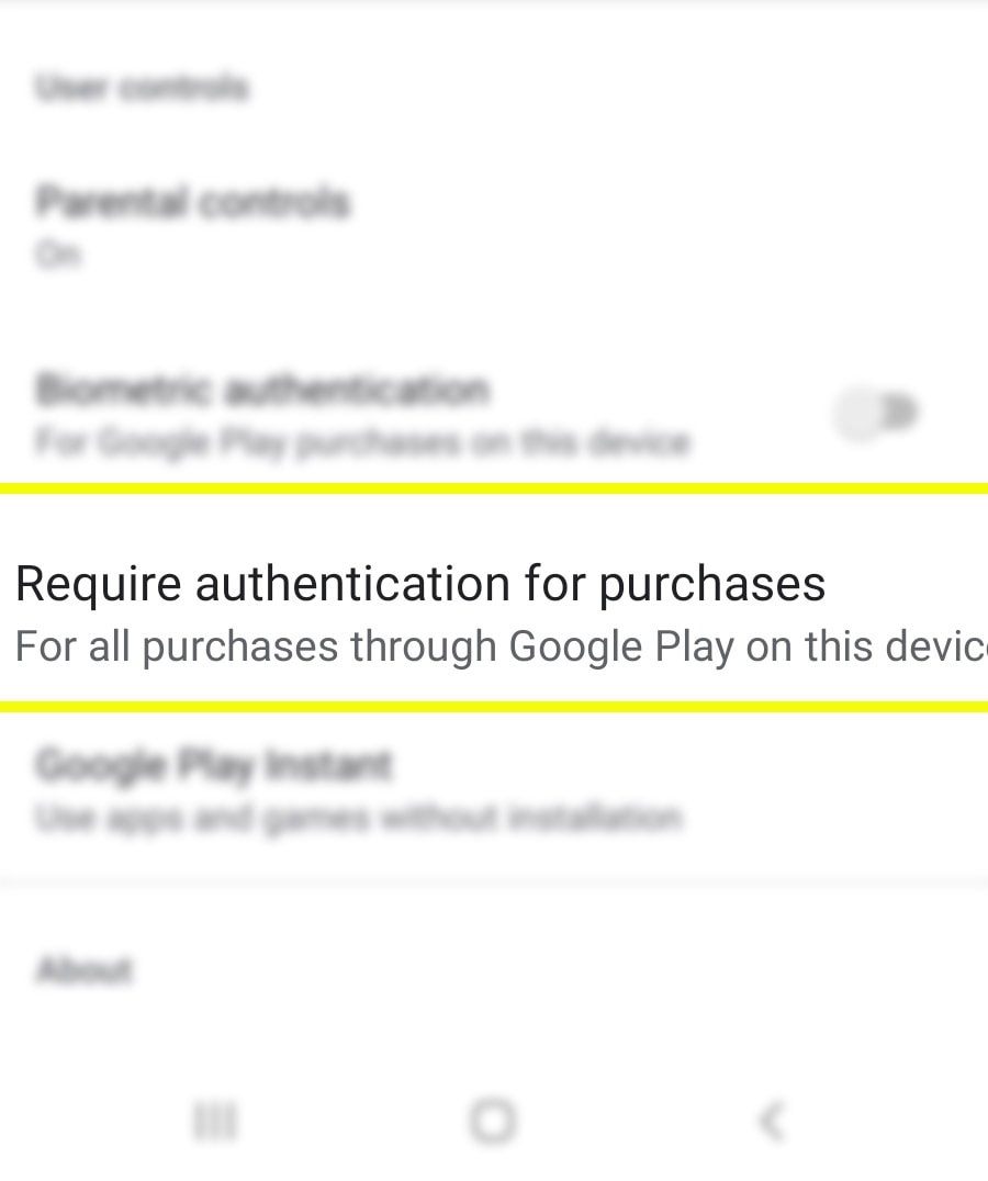 authenticate galaxy s20 play store purchases - require authenticate