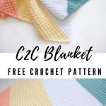 Crochet C2c Silt Blanket Pattern Maria S Blue Crayon