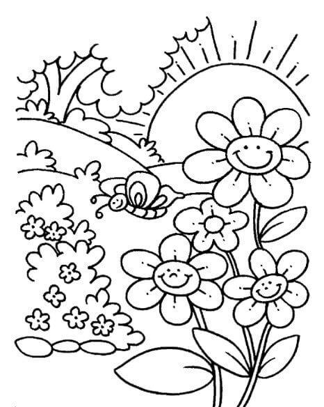 gambar bunga untuk mewarnai anak paud  kata mutiara