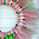 Tulle Wreath Watermelon Easy Diy Craft Door Decor Summer