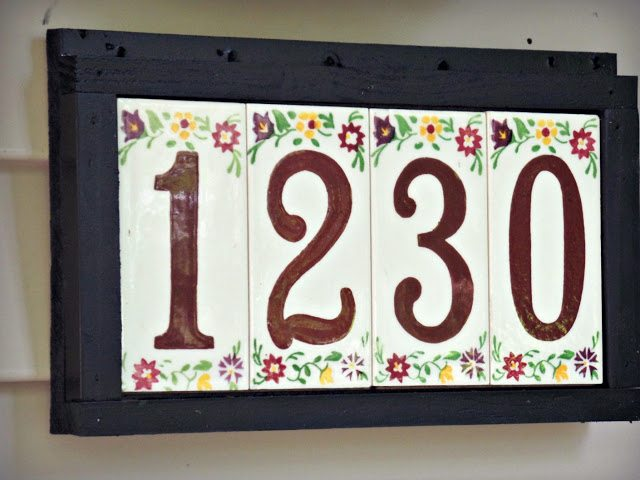 house number plaque diy visible