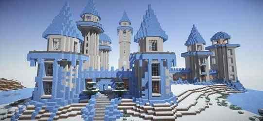 minecraft frozen building cool snow ender ice castle