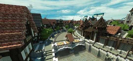 minecraft building medieval cool castle road gate ender chest stone enderchest village brick wooden