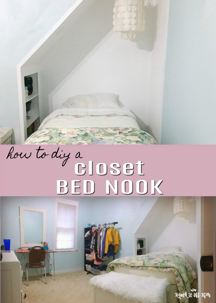build a closet bed nook to increase
