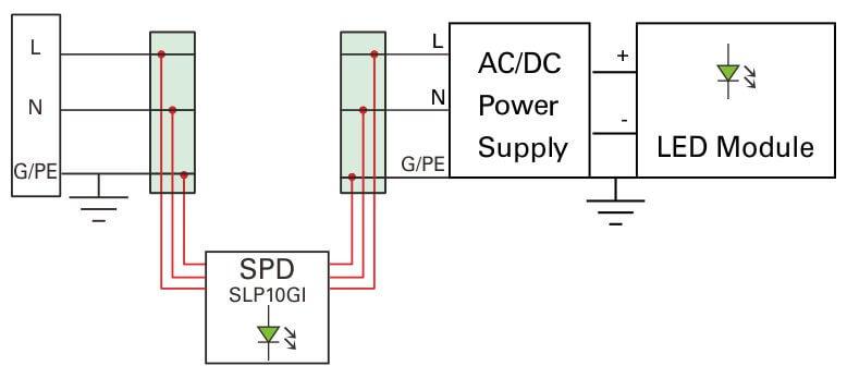 LED-Işıklar-TPB'ler serisi bağlantı
