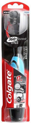 Colgate 360 Charcoal Battery Power and Replacement Head Toothbrush