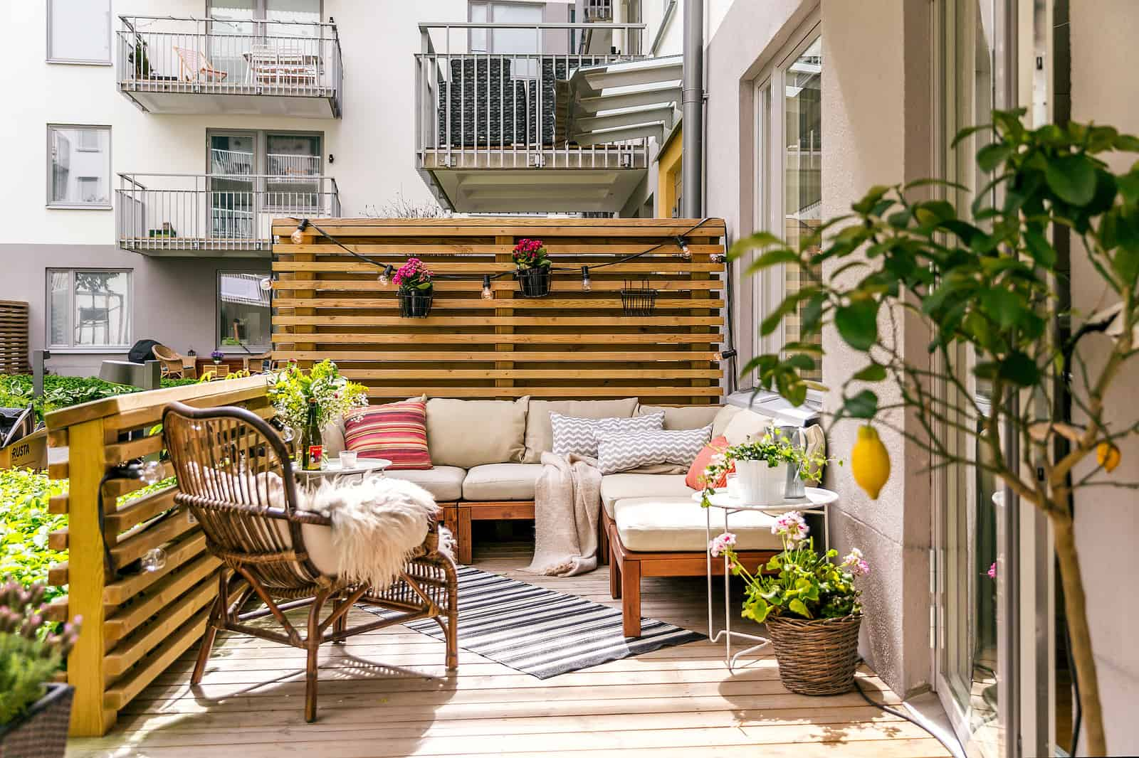 privacy screen for deck railing ideas