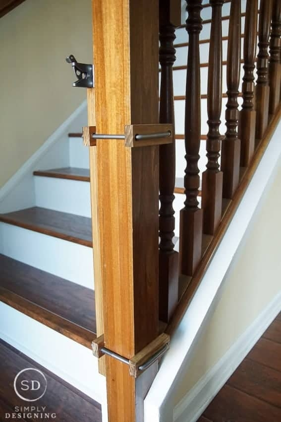 How To Make A Custom Diy Baby Gate With An Industrial Style   Diy Farmhouse Stair Railing   Country Style   U Shaped   Horizontal Bar   Upcycled   Low Cost