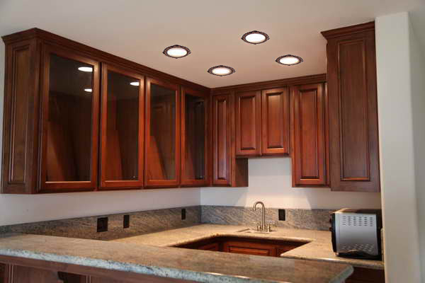 led recessed lighting kitchen designs