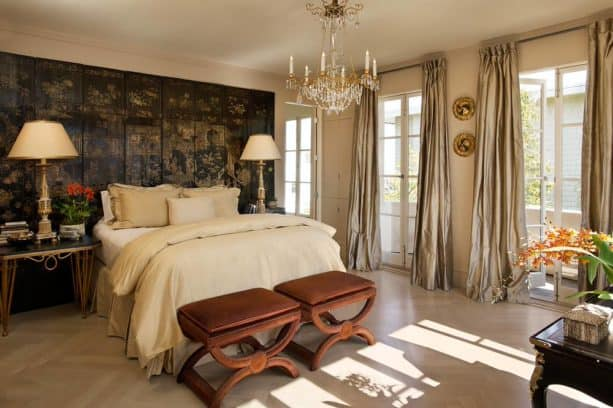 luxurious black and gold bedroom ideas