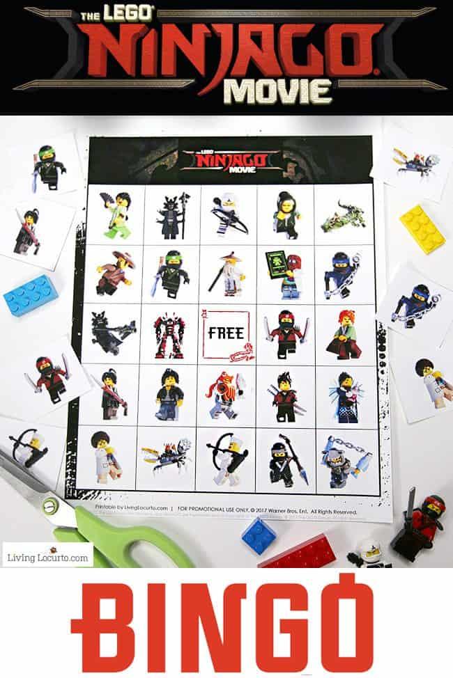 lego ninjago bingo free printable