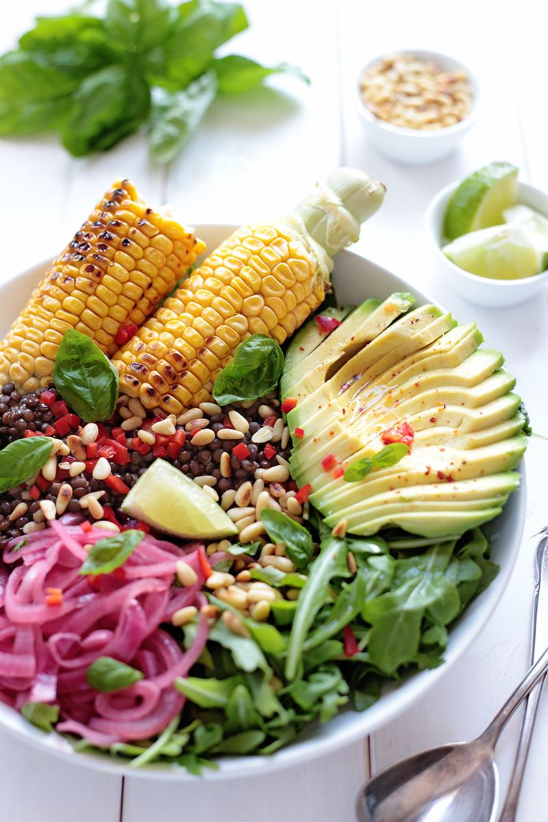 Grilled Corn Salad Bowl