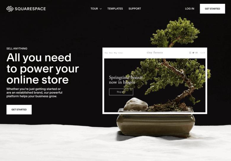 E-commerce di Squarespace