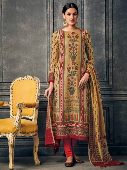 Simple Straight cut Churidar Salwar Suits for women
