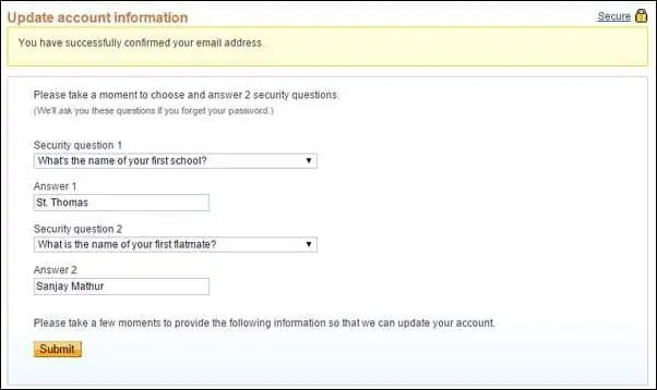 paypal security qustions - The Internet Tips