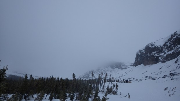Entre falaises, arbres et brouillard, la randonnée en skidoo a été à couper le souffle!