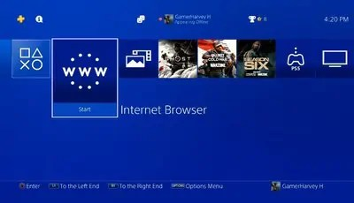 How To Use The PS4 Web Browser