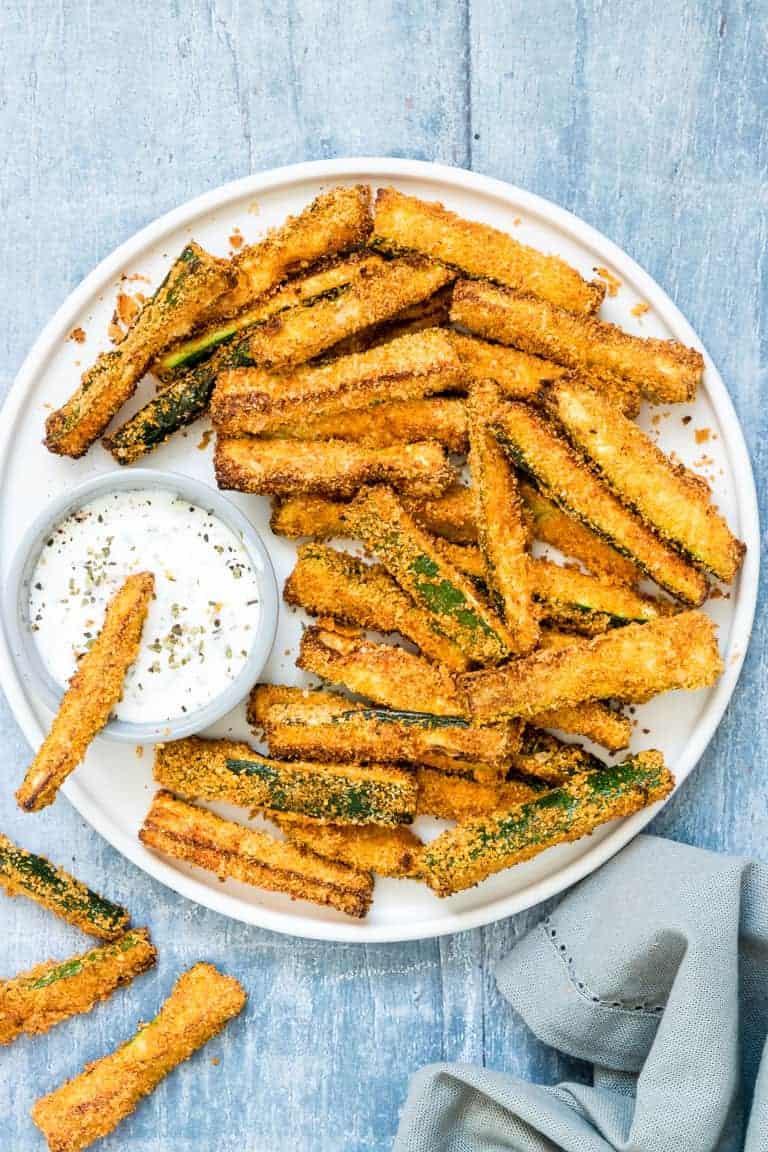 Air Fryer Parmesan Zucchini Fries