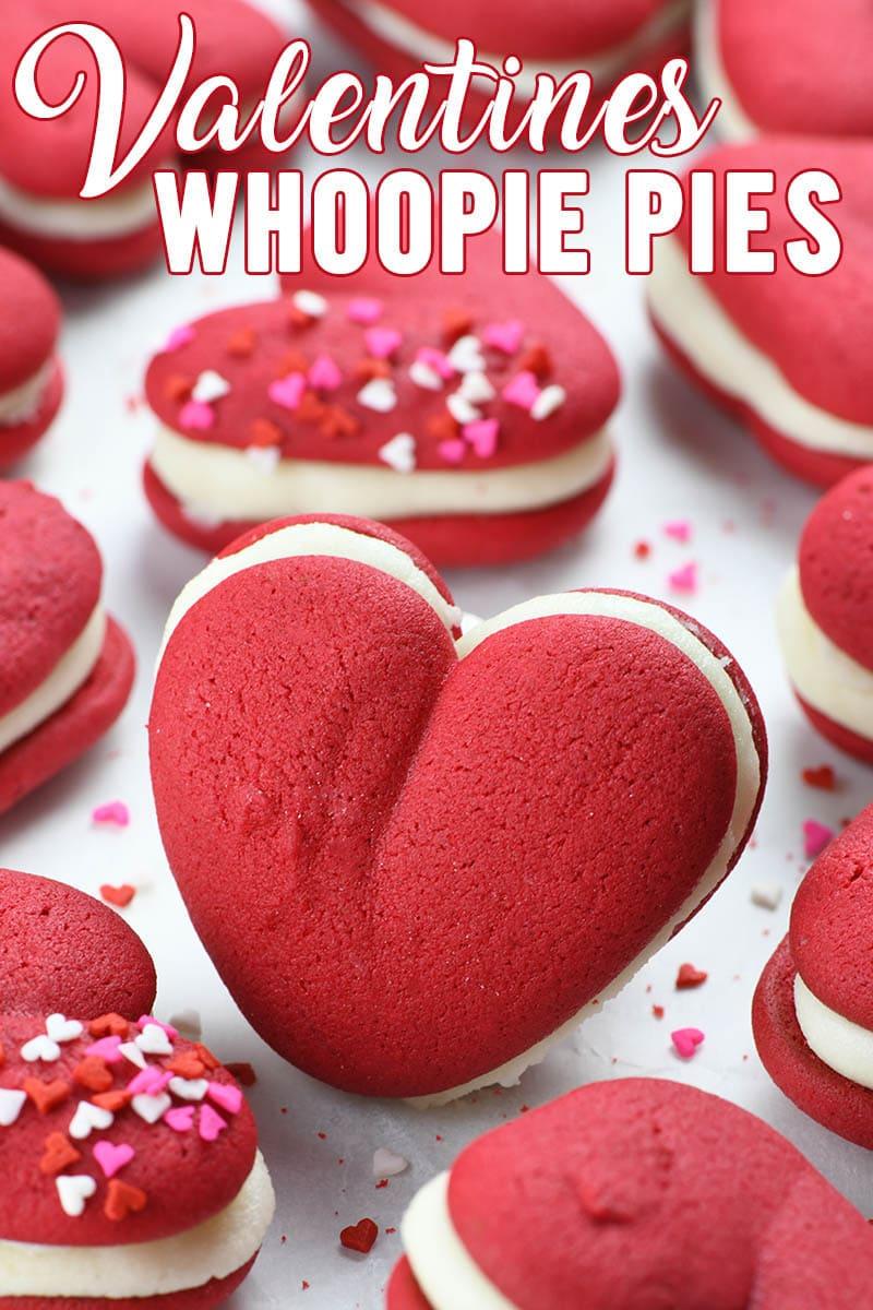 Heart-shaped Valentine's Red Velvet Whoopie Pies