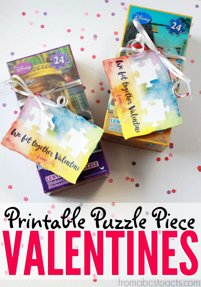 Going candy free this Valentine's Day?  These printable puzzle themed valentines are a whole lot healthier and just as much fun!