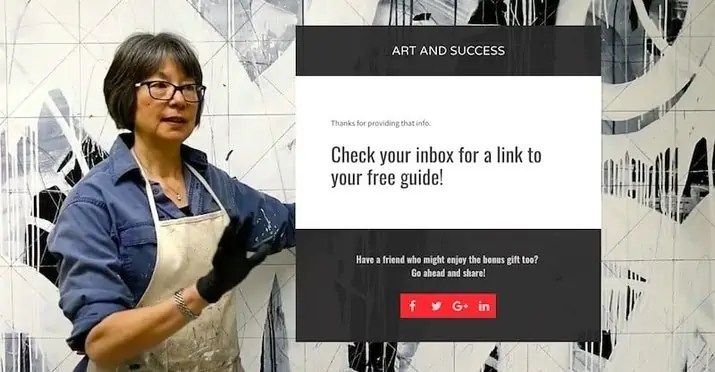 Art and Success Landing Page