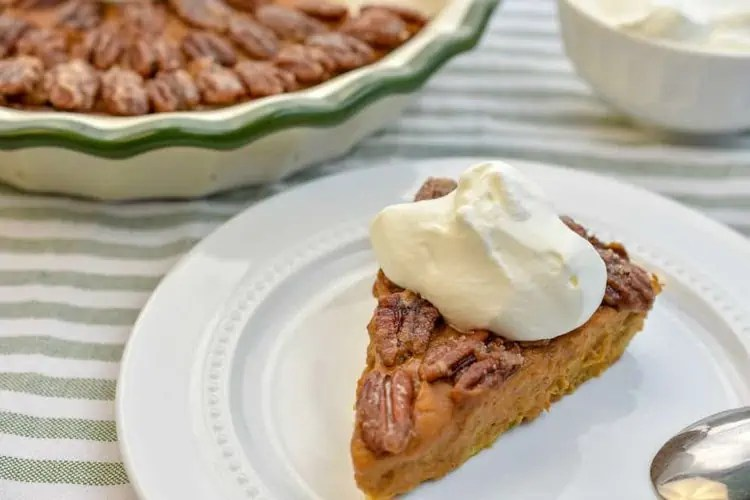 Pecan Glazed Pumpkin Pie