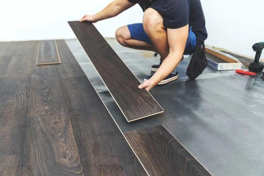 luxury vinyl plank installation