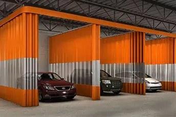 industrial curtain walls pvc curtains