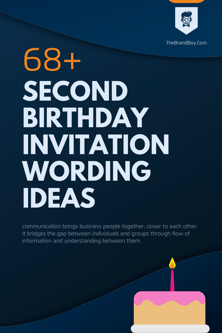 best second birthday invitation wording