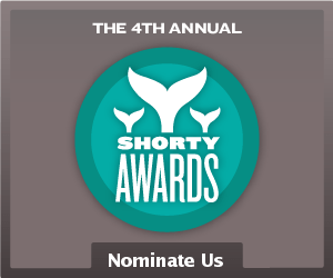 Nominate Bob Merrick™ for a social media award in the Shorty Awards!