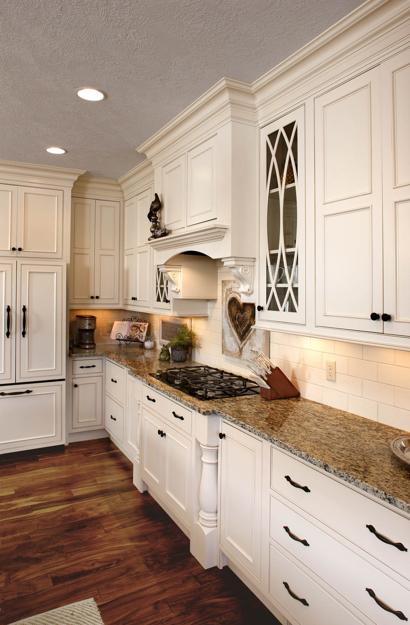 See this kitchens graceful glass doors  Showplace Cabinetry