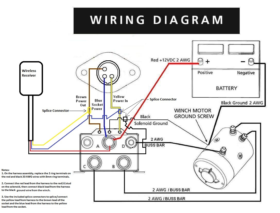 12v winch motor wiring diagram speaker calculator ramsey rep8000 solenoid  pirate4x4