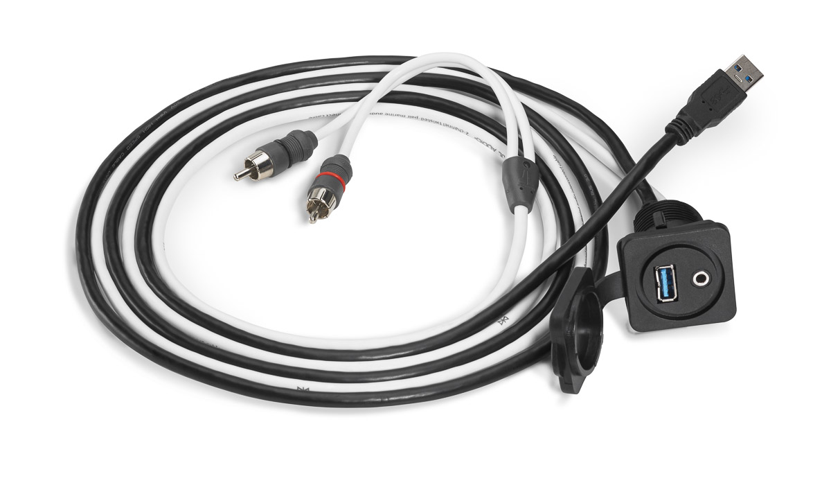 xmd usb 3 5mm pnl combo 3 5 mm audio jack and 9 wire usb port for panel mounting [ 1200 x 710 Pixel ]